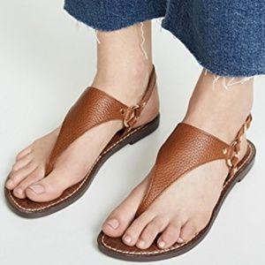 Sam Edelman Greta brown leather thong sandals sz 9